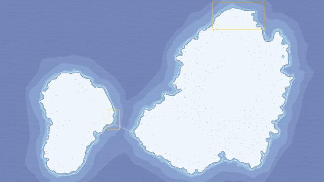 Ocean routes island gaps